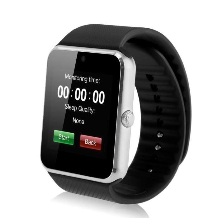 montre connect e smart watch montre intelligente buletooth watch noir achat vente montre. Black Bedroom Furniture Sets. Home Design Ideas
