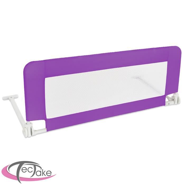 barri re de lit enfant universelle 102 cm tectake violet. Black Bedroom Furniture Sets. Home Design Ideas