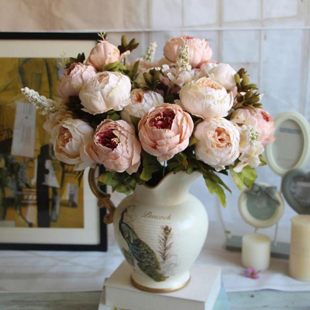 1 Bouquet Fleurs Artificielles Type Européennes Décoration Chambre ...