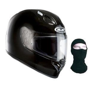 HJC casque intégral FG-17 noir verni + cagoule
