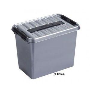 boite plastique opaque avec couvercle grise 9 l achat vente boites de conservation boite. Black Bedroom Furniture Sets. Home Design Ideas