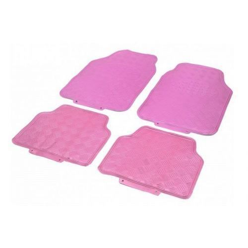 Tapis Auto Caoutchouc 2 Avts 2 Arrieres Tuning Metallise Rose Universel Achat Vente Tapis