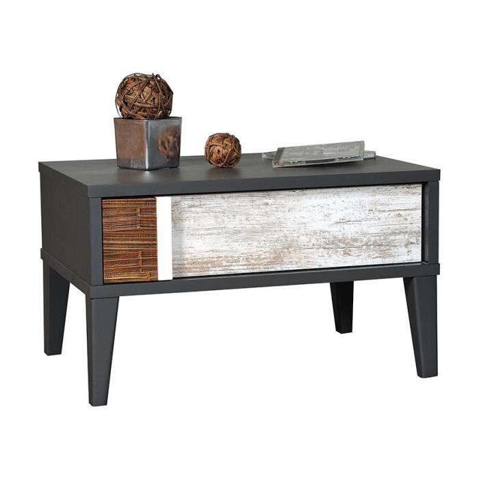 Table de chevet croft 1 tiroir achat vente chevet for Table de chevet industriel