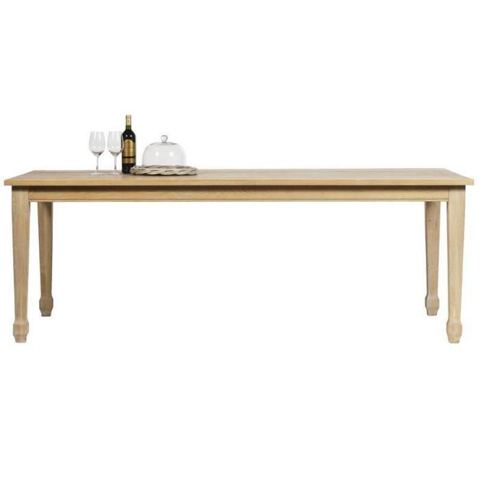 Table De Repas Rectangulaire Ch Ne Massif 39 Goya Achat