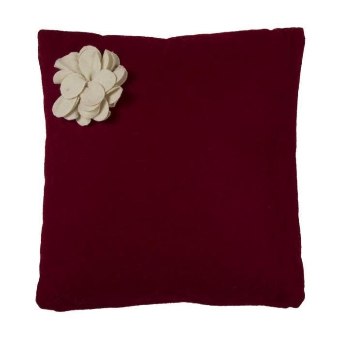 cocoon fleur coussin 40x40 rouge monbeaucoussin achat vente coussin cdiscount. Black Bedroom Furniture Sets. Home Design Ideas