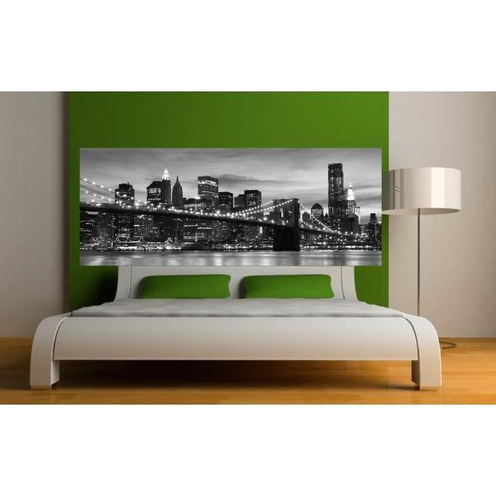stickers t te de lit d co new york dimensions achat vente stickers cdiscount. Black Bedroom Furniture Sets. Home Design Ideas
