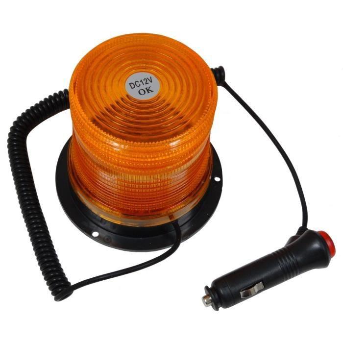 gyrophare de signalisation orange ambr 26 led 12v achat vente gyrophare gyrophare de. Black Bedroom Furniture Sets. Home Design Ideas