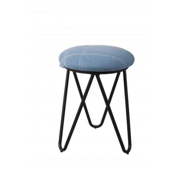tabouret coton raw vintage bleu ciel zuiver achat. Black Bedroom Furniture Sets. Home Design Ideas