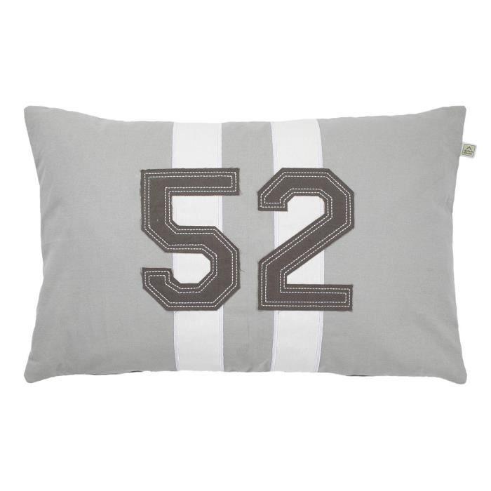 housse de coussin enexa 40x60 cm gris clair achat. Black Bedroom Furniture Sets. Home Design Ideas