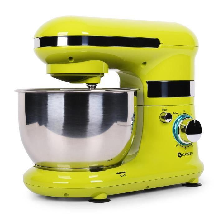 klarstein serena limona robot de cuisine 600w robot patissier multifonction avec bol en inox. Black Bedroom Furniture Sets. Home Design Ideas