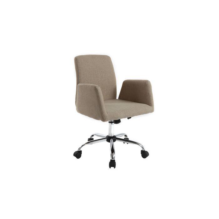 fauteuil de bureau design tissu cr me ariel achat vente chaise de bureau beige cdiscount. Black Bedroom Furniture Sets. Home Design Ideas
