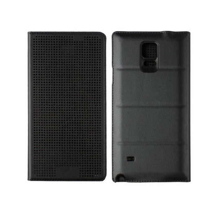 coque housse samsung galaxy note 4 tui flip cover dot. Black Bedroom Furniture Sets. Home Design Ideas