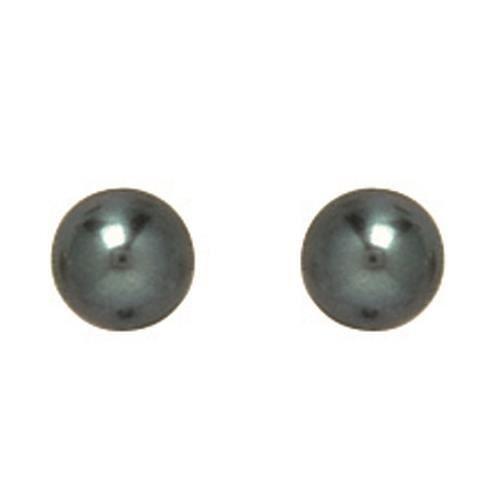 boucles d 39 oreilles perle noire 5mm or jaune 750 achat vente boucle d 39 oreille so chic bijoux