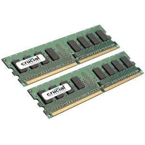 MÉMOIRE RAM Crucial Kit Mémoire Dual Channel DDR2 2 Go 667MHz