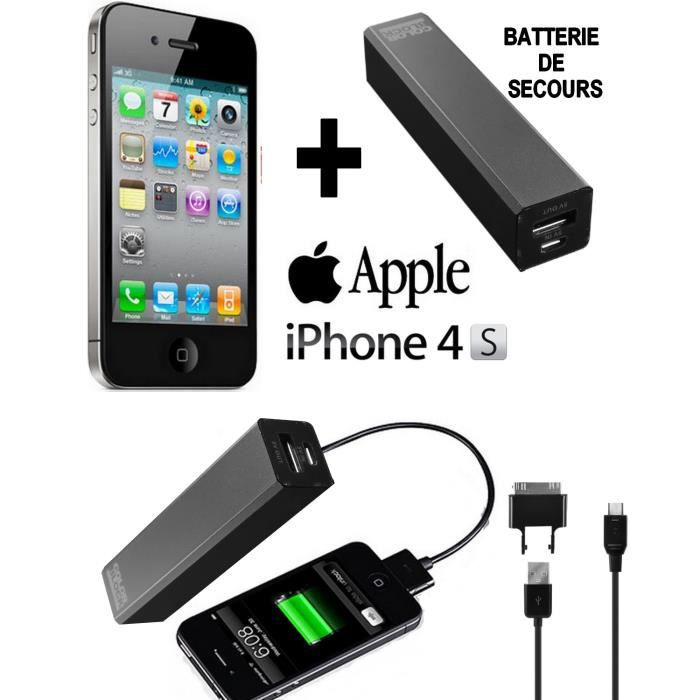 pack energy apple iphone 4s noir 8go batterie smartphone prix pas cher cdiscount. Black Bedroom Furniture Sets. Home Design Ideas