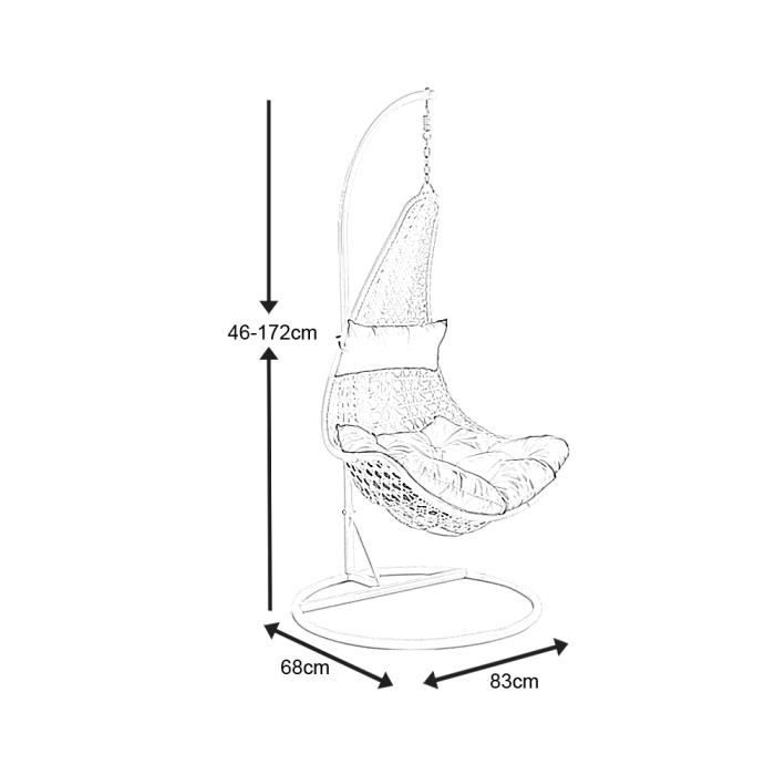 Balancelle sur pied en polyr sine et acier blanc 83x68cm achat vente fauteuil jardin - Balancelle sur pied ...