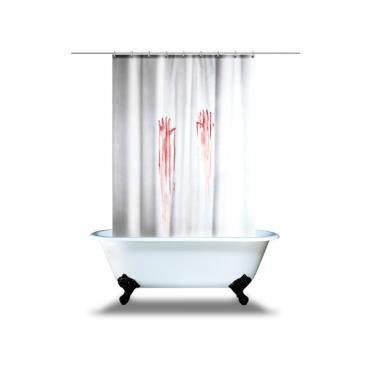 Rideau traces de mains sanglantes pour douche objet deco - Rideau de douche insolite ...