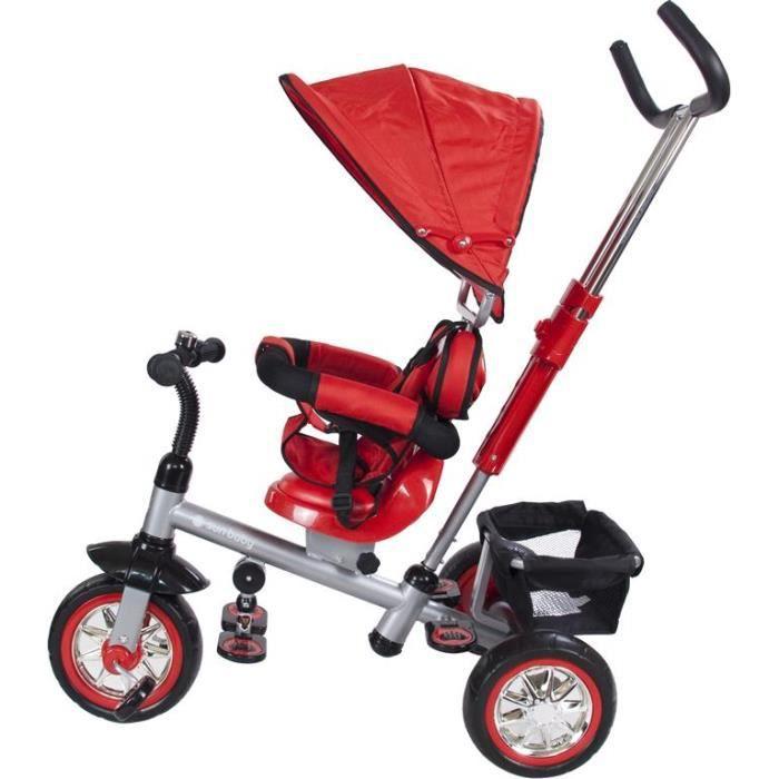 super tricycle enfant siege pivotant 18 a 36m rouge prix pas cher cdiscount. Black Bedroom Furniture Sets. Home Design Ideas