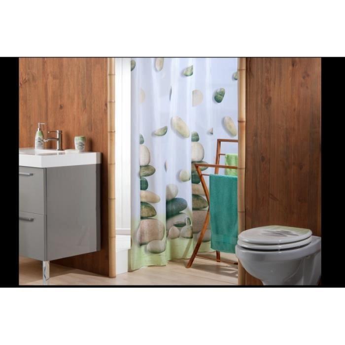rideau de douche zen garden achat vente rideau de douche polyester cdiscount. Black Bedroom Furniture Sets. Home Design Ideas