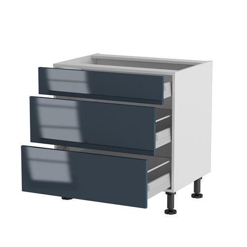 Meuble cuisine bas 80cm 1 tiroir 2 casseroliers achat for Meuble usine