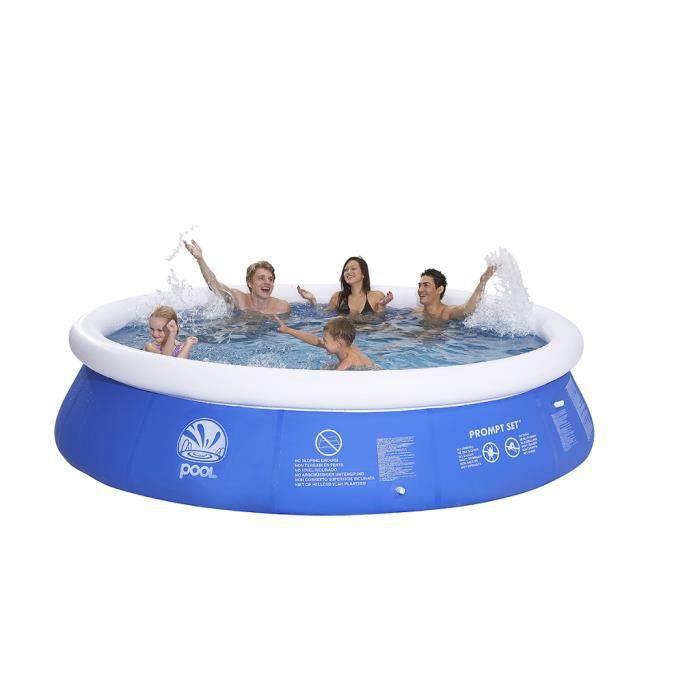 maison jardin plein air piscine gonflable ronde  x cm f auc
