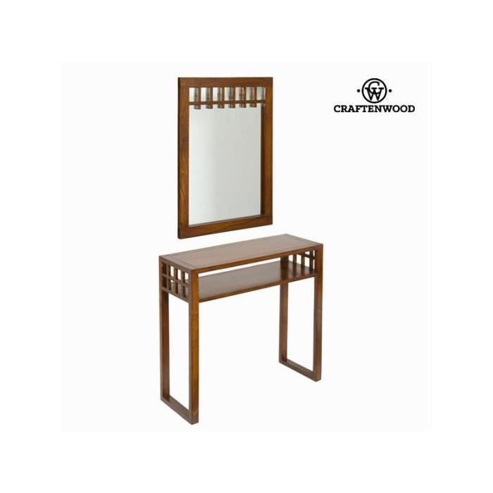 Meuble d 39 entr e avec miroir colonial collection serious for Meuble colonial occasion