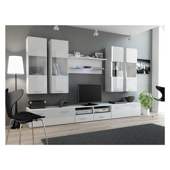 Ensemble meubles tv design sirus 1 blanc composition bois laqu achat - Ventes privees meubles design ...