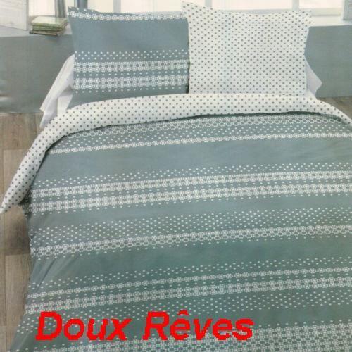 housse de couette 240x220cm dentelle 2 taies 65x65cm 100 coton flanelle achat vente housse. Black Bedroom Furniture Sets. Home Design Ideas