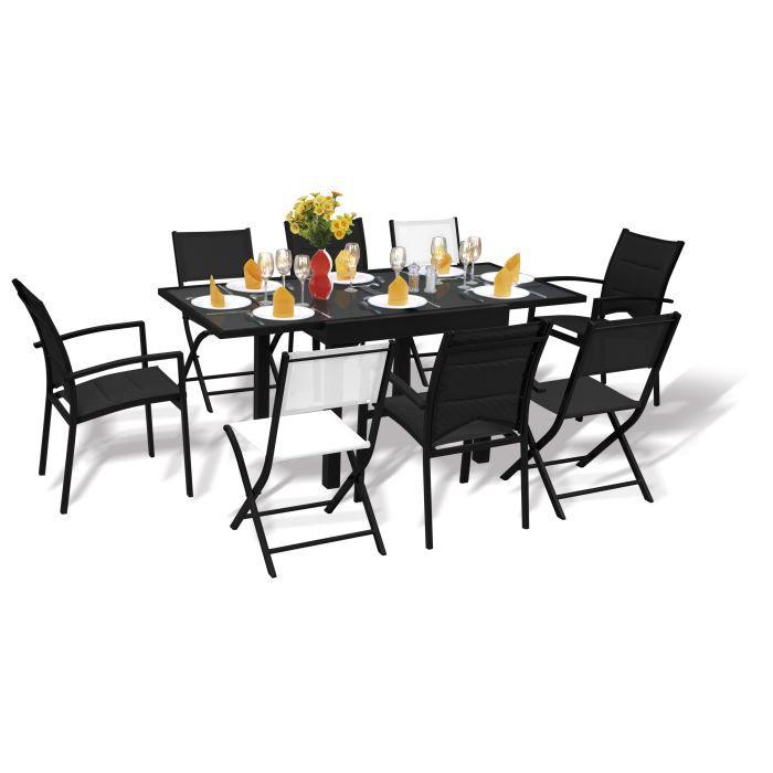 Ensemble de jardin modulo 8 personnes achat vente for Ensemble table et chaise 8 personnes