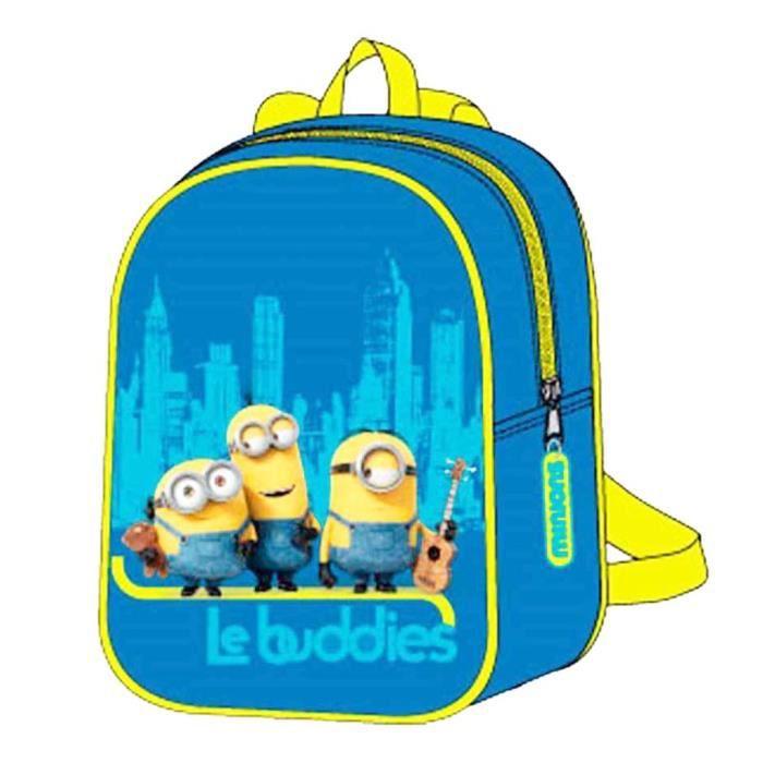 petit sac dos enfant gar on les minions bleu jaune 25cm bleu bleu jaune achat vente sac. Black Bedroom Furniture Sets. Home Design Ideas