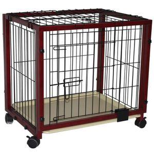 Cage transport avec roulettes parc/enclos à chiots