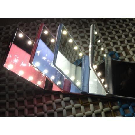 miroir de poche lumineux pour sac 8 led maquillage achat vente miroir de poche miroir de. Black Bedroom Furniture Sets. Home Design Ideas