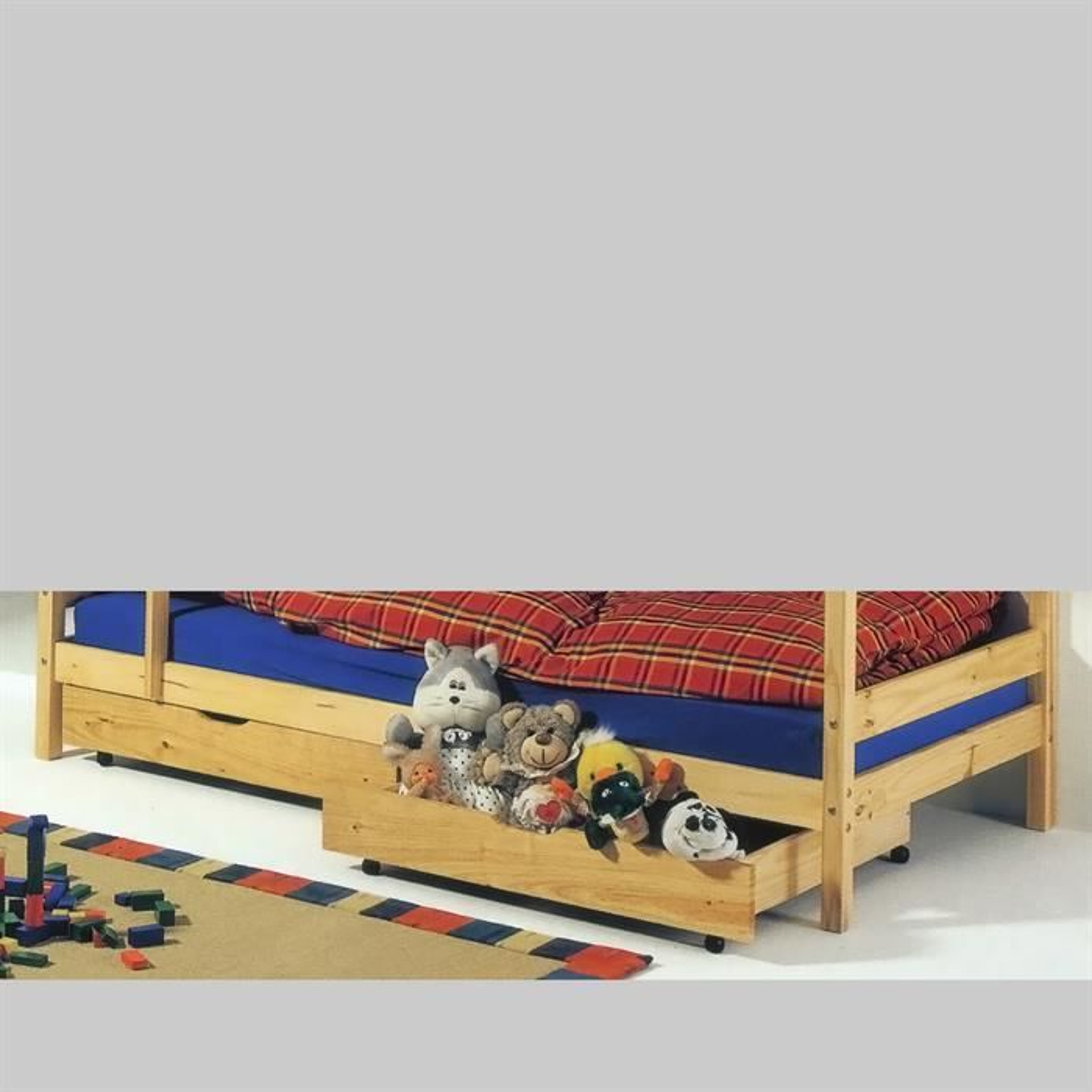 set de 2 tiroirs de rangement sous lit 90x200 cm felix 2. Black Bedroom Furniture Sets. Home Design Ideas