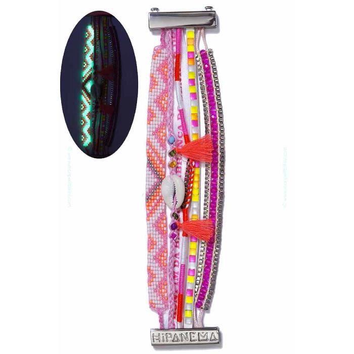 bracelet fluorescent hipanema ro multicolore achat vente bracelet gourmette bracelet. Black Bedroom Furniture Sets. Home Design Ideas
