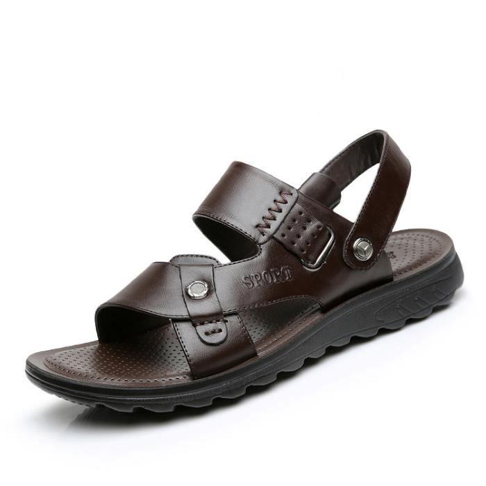 hommes sandales chaussures de marche chaussures noir. Black Bedroom Furniture Sets. Home Design Ideas
