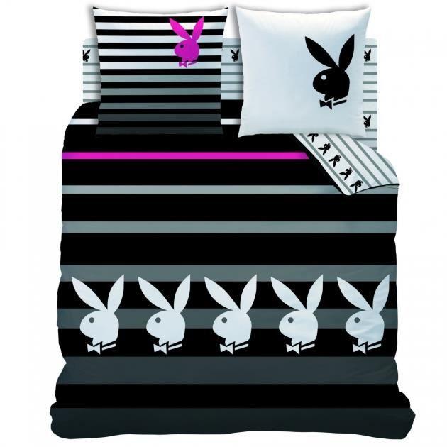playboy housse de couette 240x220 cm stripe achat