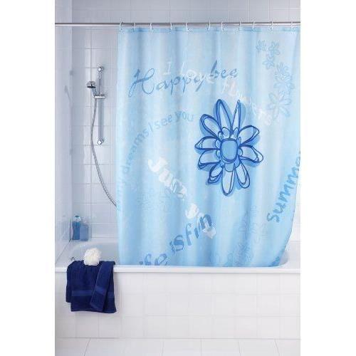 wenko 20055100 rideau de douche en textile happ achat. Black Bedroom Furniture Sets. Home Design Ideas