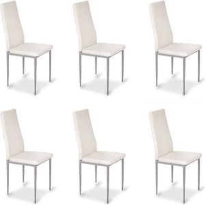 Chaise blanche achat vente chaise blanche pas cher - 6 chaises blanches ...