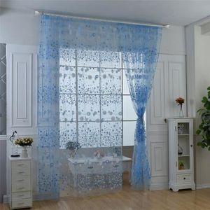 voilage bleu achat vente voilage bleu pas cher cdiscount. Black Bedroom Furniture Sets. Home Design Ideas