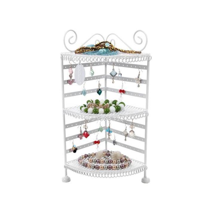 Porte bijoux pr sentoir de boucles d 39 oreilles blanc 33 5 x - Presentoire boucle d oreille ...