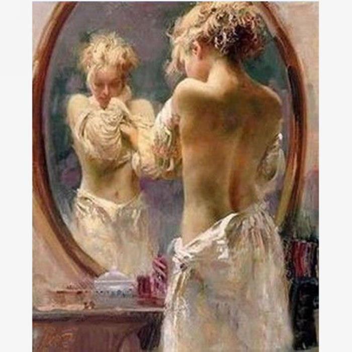 maison r tableau peinture femme