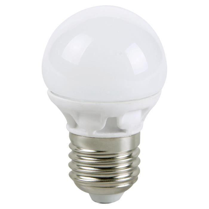 lampe led petite boule 5w e27 blanc chaud 400lm la achat. Black Bedroom Furniture Sets. Home Design Ideas