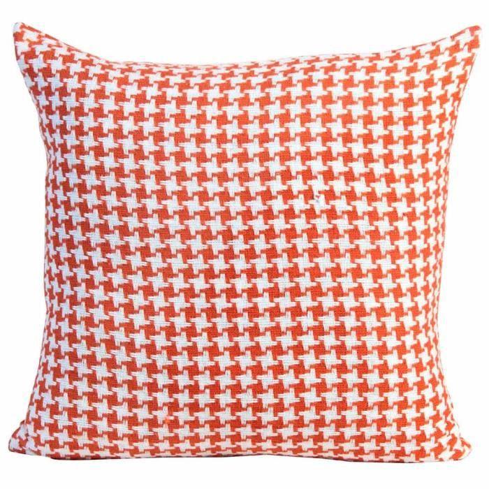 coussin d houssable motif chevron orange 60 x 60 cm. Black Bedroom Furniture Sets. Home Design Ideas