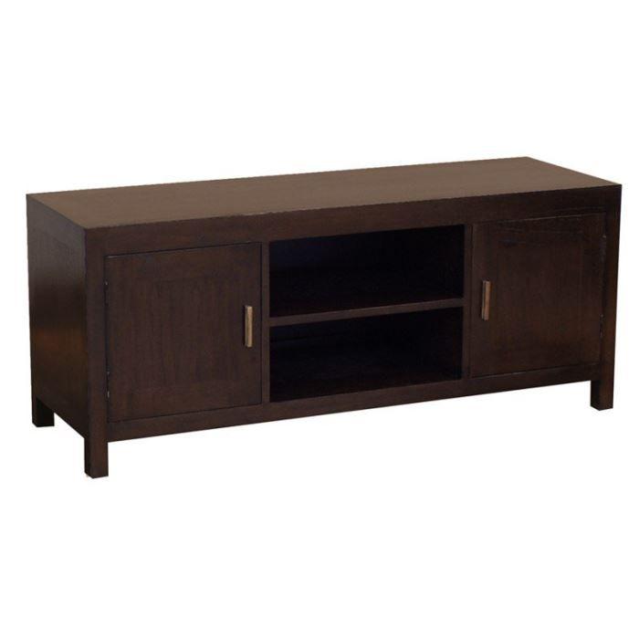 Kota meuble tv t l bois acajou massif vernis de achat vente meuble tv ko - Meuble acajou massif ...