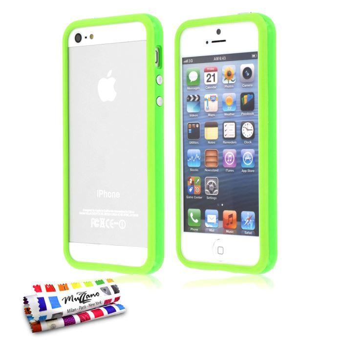 bumper colors apple iphone 5s vert achat coque bumper pas cher avis et meilleur prix. Black Bedroom Furniture Sets. Home Design Ideas