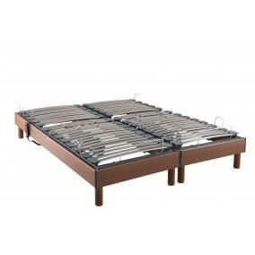 Sommier relaxation merisier taille 90 x 200 cm achat vente sommier cdis - Sommier de relaxation electrique ...