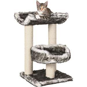 TRIXIE Isaba Arbre ? chat Hauteur 62 cm noir et blanc peluche et sisal naturel