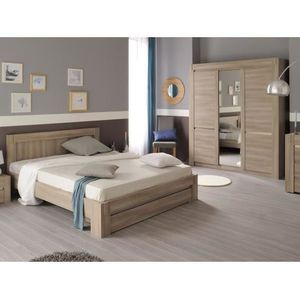 Chambre compl te adulte 140x190 achat vente chambre for Chambre adulte complete lit 140x190