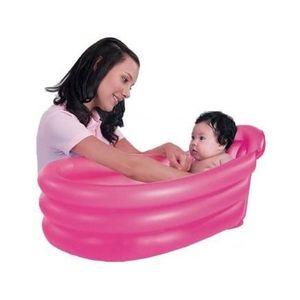 Baignoire gonflable bebe de voyage rose pisci achat vente baignoire 6942138905670 cdiscount - Baignoire gonflable bebe ...
