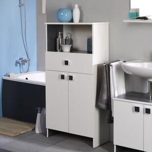 Petit meuble rangement bas blanc achat vente petit for Meuble a bas prix